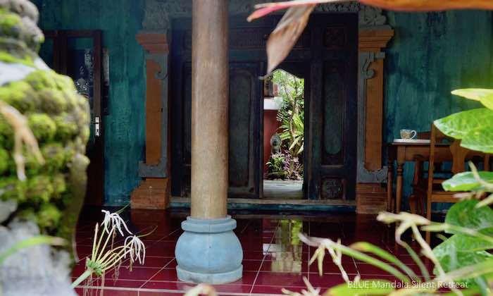 Blick Ins Strandhaus Blue Mandala