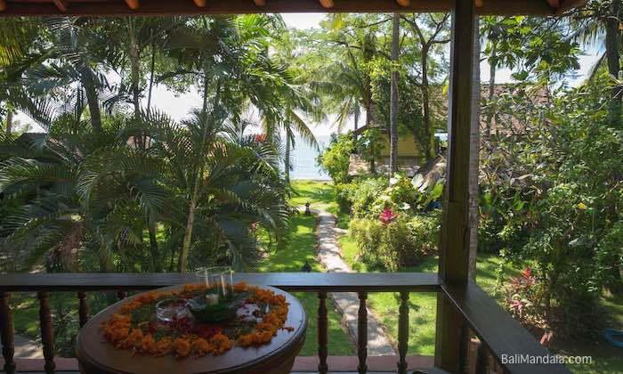 Bild Blick aufs Meer vom Bungalow Bali Mandala