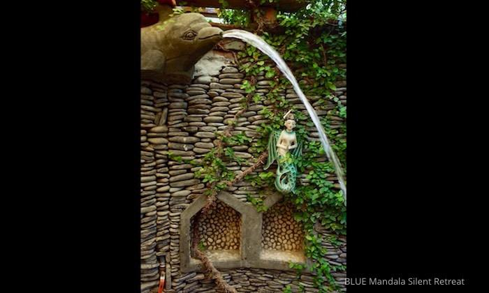 Delfindusche Gartenhaus Blue Mandala