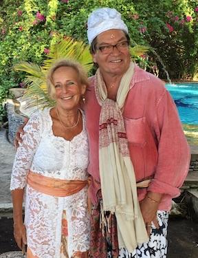 Zeremonie im Bali Mandala