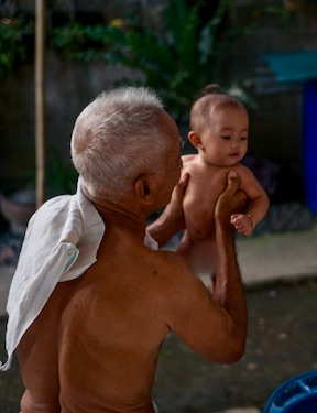 Grandfather and Child in Bondalem