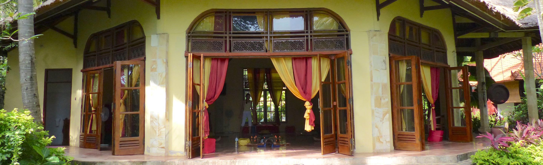 Meditationshalle Bali Mandala Aussen