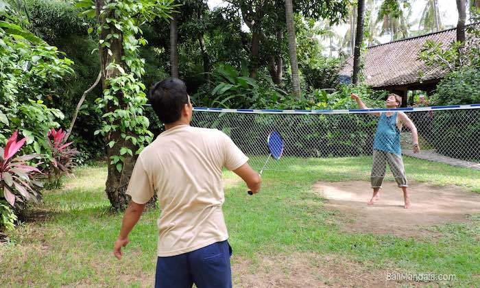 Bild Badminton im Bali Mandala